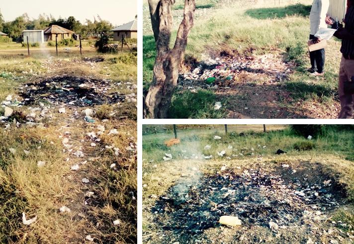 Waste dumpsites in Ebeneze Life Center