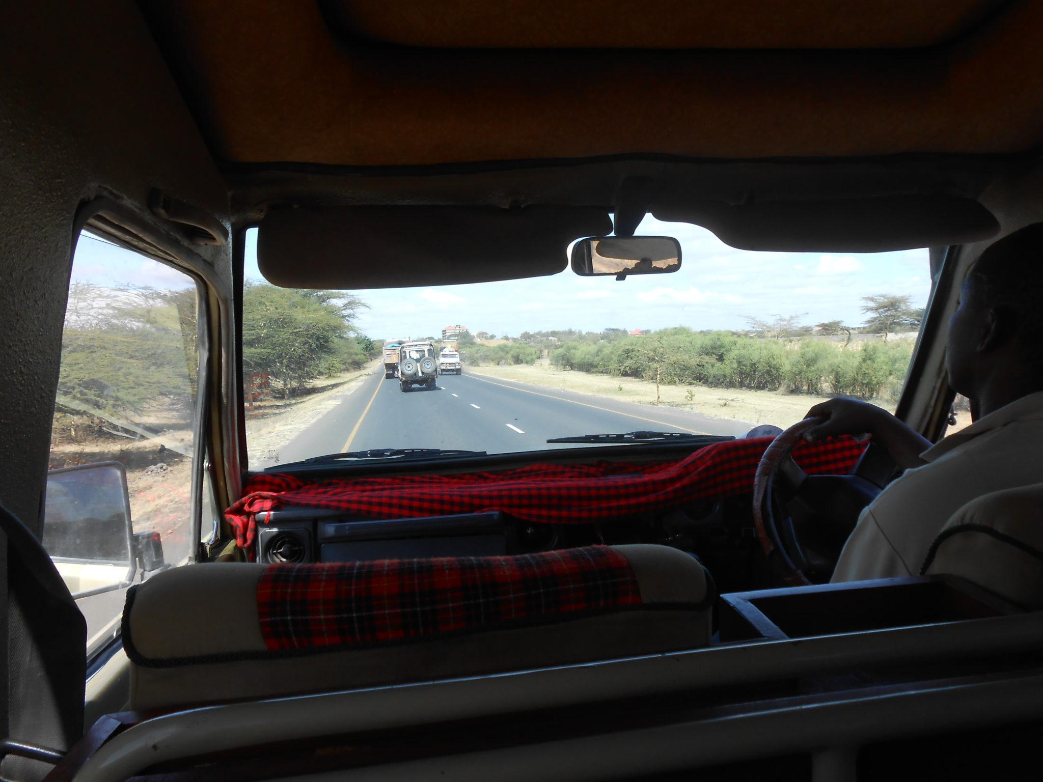 Op safari met driver Goodluck!
