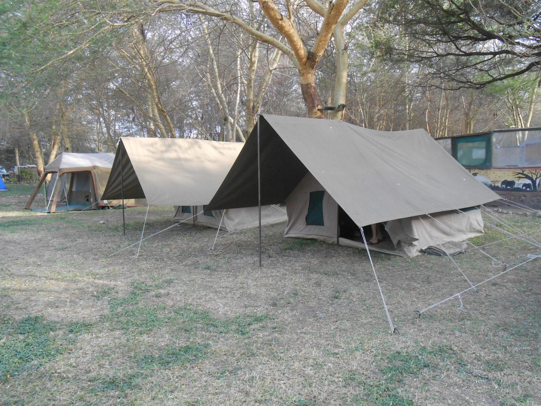 Onze tent op Lilac Campsite