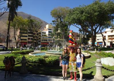 Toerist op Plaza Mayor