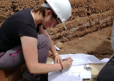 Ingeniera Jasmine tekent plannen