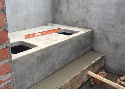 Beton gieten voor trap