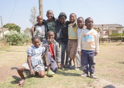 children pose